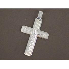 Dije de Plata cruz con Cristo 50mm