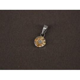 Dije mini con guarda de oro 9mm