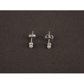 Aros de Plata mini perla