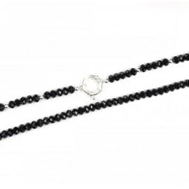 Collar de cristales con bolitas y marinero 70cm