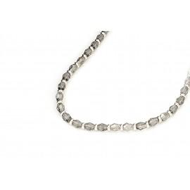 Collar cristal gota humo con argolla 5mm 40cm