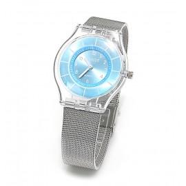 Reloj modelo metal shine celeste