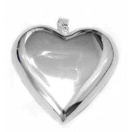 Dije de acero corazón inflado 68mm