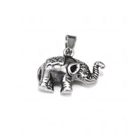 Dije de acero elefante labrado
