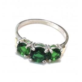 Anillo triple grifa cubic verde
