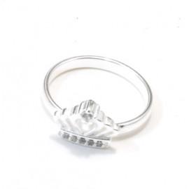 Anillo falange mini corona con cubic