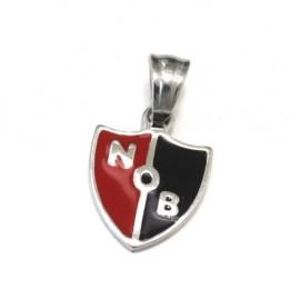 Dije de Acero escudo de Newell's esmaltado 15mm