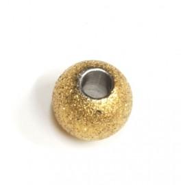 Dije de Acero dona dorada arenada 8mm