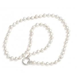 Collar perlas de cultivo con bolitas y marinero 50cm