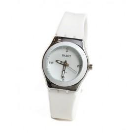 Reloj modelo lady queen caucho blanco