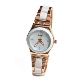 Reloj modelo lady queen gold rosse y blanco