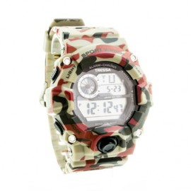 Reloj tressa de caucho militar marron 50mm