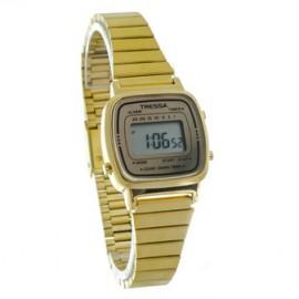 Reloj tressa retro dorado metal 24mm
