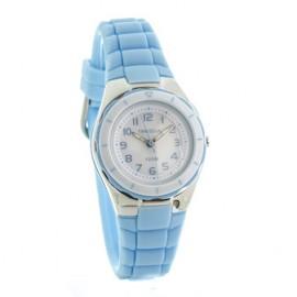 Reloj tressa sumergible celeste y blanco 30mm