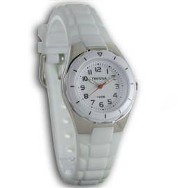 Reloj tressa sumergible blanco 30mm