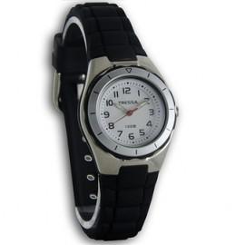 Reloj tressa sumergible negro 30mm