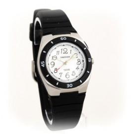 Reloj tressa sumergible negro fondo blanco 30mm