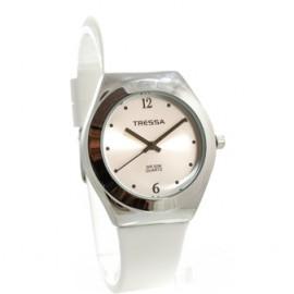 Reloj tressa sumergible blanco y acero 34mm