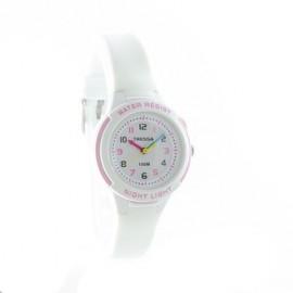 Reloj tressa sumergible blanco combinado 30mm