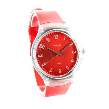 Reloj tressa sumergible rojo con blanco 40mm