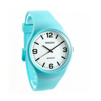 Reloj tressa sumergible turquesa 40mm
