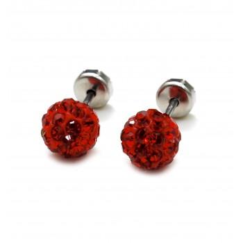 Aros de acero abridor bola de fuego rojo 8mm