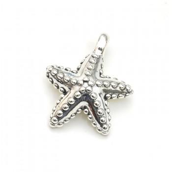 Dije de plata estrella de mar inflada 25mm