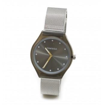 Reloj tressa acero tejido centro gris 36mm