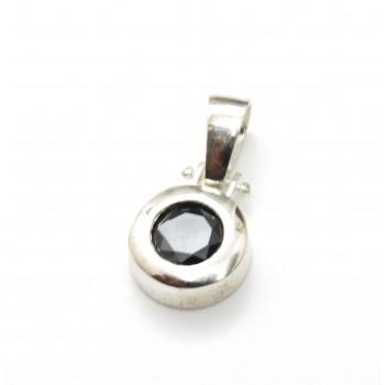 Dije de plata susano negro 11mm 15mm