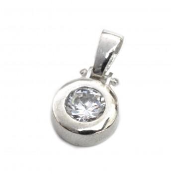 Dije de plata susano cristal 11mm 15mm