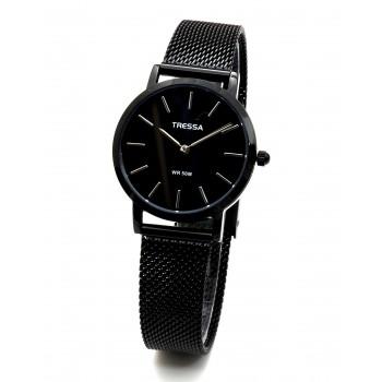 Reloj tressa acero tejido negro 32mm
