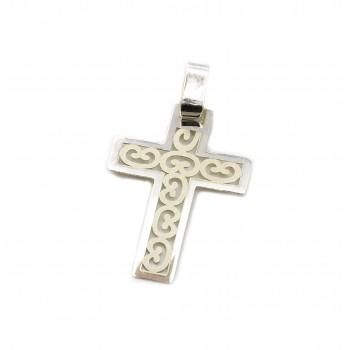 Dije de plata cruz calada 23mm