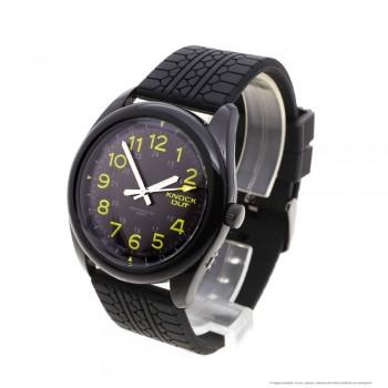 Reloj caucho negro centro negro y verde 44mm