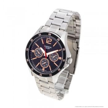 Reloj malla metalica centro negro y rose borde negro 44mm
