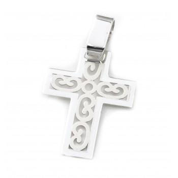 Dije de plata cruz calada 16mm