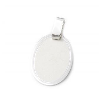 000a0131541a Dije de plata chapa para grabar ovalo 16mm