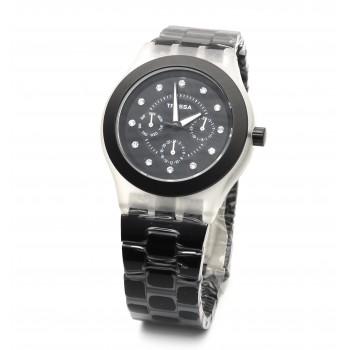 Reloj tressa acero negro 40mm