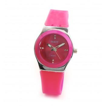 Reloj modelo lady queen caucho fucsia
