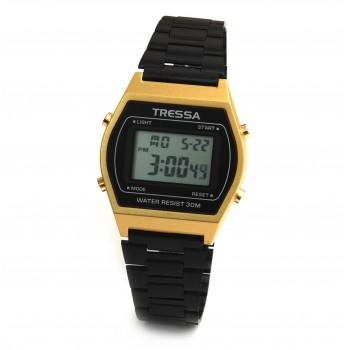 Reloj tressa retro metal dorado crono 34mm