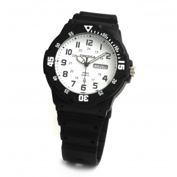 Reloj tressa caucho fondo blanco 40mm