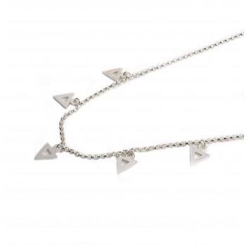 Colla de plata multi dije triangulo calada 40cm