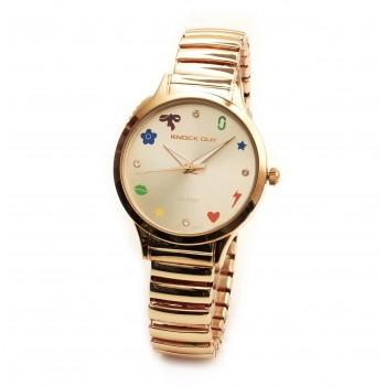 Reloj malla extensible rosse fondo rosse con figuras 35mm