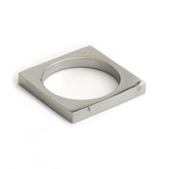 Anillo de acero cuadrado 4mm