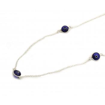 Collar de plata 3 ojitos 45cm