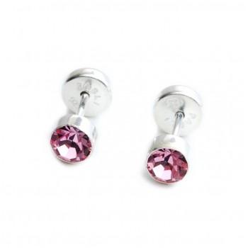 Aros de plata abridor susano rosa 5mm