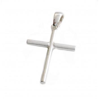 Dije de plata cruz lisa 35mm