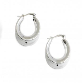 Aros de plata inflado argollas ovalada 27mm