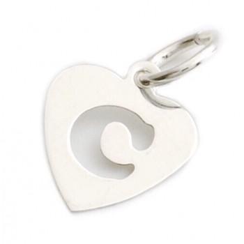 Dije de plata corazón inicial C 9mm