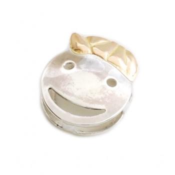 Dije de plata con oro pasante nene 10mm