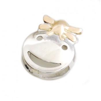 Dije de plata con oro pasante nena 10mm